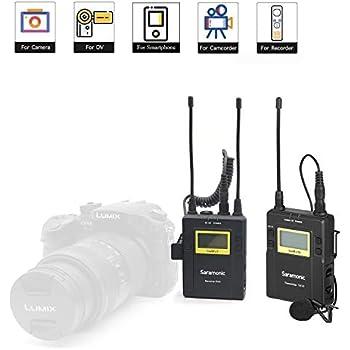 uhf wireless lavalier microphone for iphone x 8 camera vlog video saramonic uwmic9. Black Bedroom Furniture Sets. Home Design Ideas