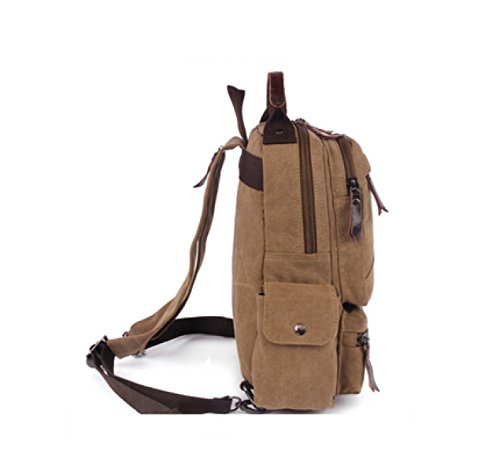 Business Retro Bag Brown Laidaye Leisure Shoulder Canvas Backpack Multi Travel purpose 5TwggqZX
