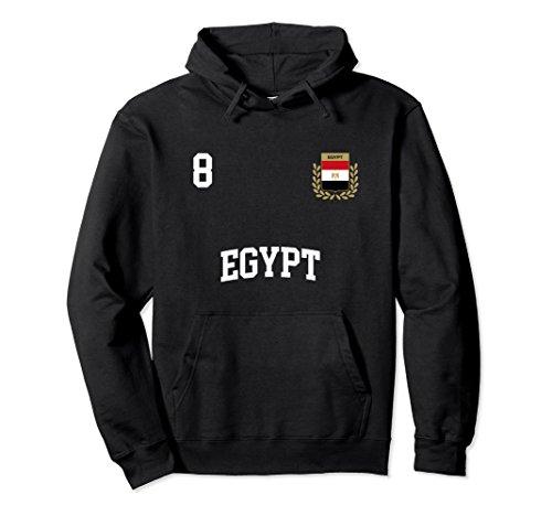 Unisex Egypt Hoodie 8 Egyptian Flag Soccer Team Football Shirt Large Black