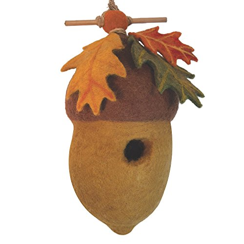 Global Crafts Wild Woolies Felt Birdhouse - Pin Oak for sale  Delivered anywhere in USA
