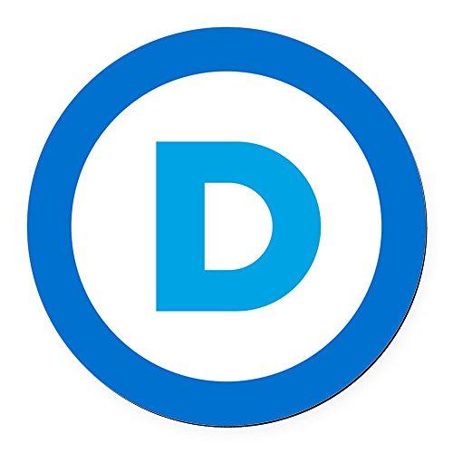 Democrat Magnet - CafePress - Democratic - Round Car Magnet, Magnetic Bumper Sticker
