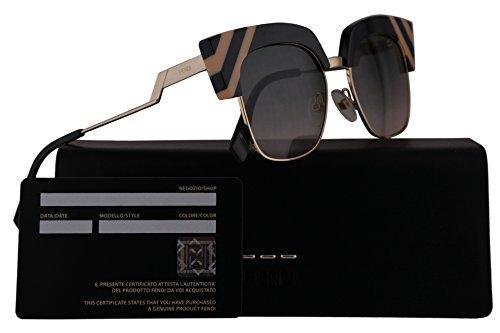 Fendi FF0241/S Sunglasses Grey w/Green Pink 50mm Lens KB7JP FF0241S FF 0241S FF 0241/S