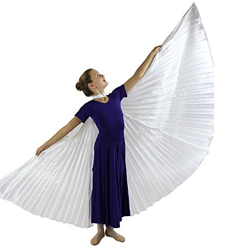 Danzcue 360 Degree Worship Isis Wings, Solid White, M-L-Child ()