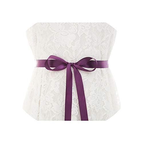 Vintage Purple Conchos - Vicky Handmade Pearls Wedding Belt Rose Gold Rhinestones Belt Crystal Bridal Belt for Bridal Dresses,Purple,One Size