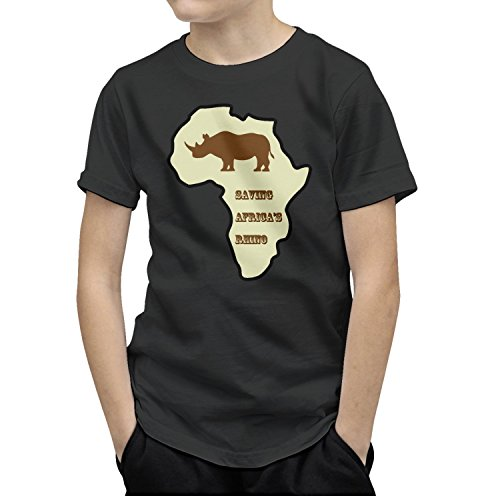 T-COPER T-Shirt for Kids The Youth Cotton Shirt Saving Africa's Rhino Funny Toddler/Infant Kids Tee by T-COPER