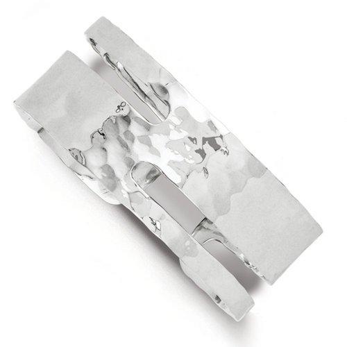 Icecarats Créatrice De Bijoux Sterling Bracelet Massif Poli Argent Martelé De Manchette Fantaisie Bracelet