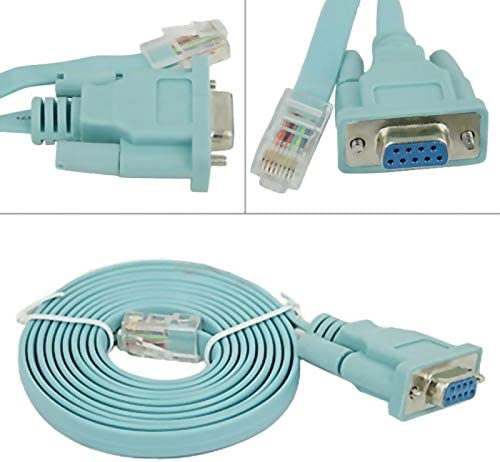 Computer Cables New 1.5M RS232 DB9 to RJ45 Adapter Cable POS Terminal Printers Console Serial Port @JH Cable Length: 1.5m, Color: Green