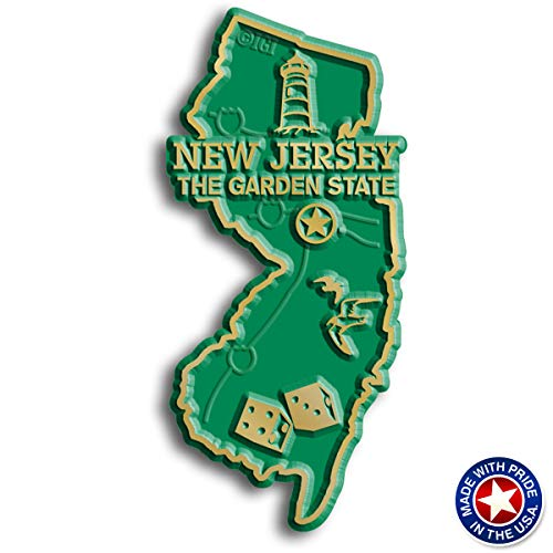 New Jersey State Map Magnet (New Jersey Magnets Refrigerator)