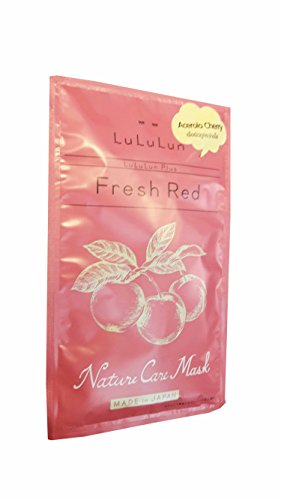 Acerola Chew (4 Mask Sheets of LuLuLun Face Mask Plus Fresh Red. Acerola Cherry. Nature Care Mask. (30 ml/ sheet.))