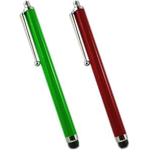 Samrick lápiz capacitivo de aluminio y lápiz capacitivo para LG Optimus One P500 - rojo/verde (2 unidades)