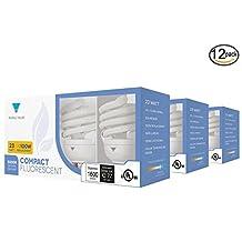 Triangle Bulbs 12-Pack 23-Watt (100W) Spiral Medium Base Natural Daylight (5000K) CFL Light Bulbs