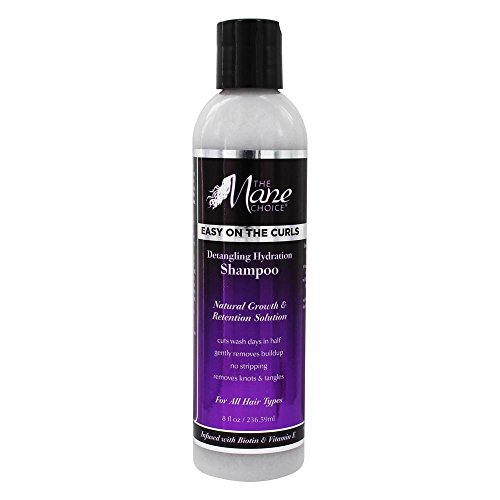 THE MANE CHOICE Easy On The Curls Detangling & Hydration Shampoo (8 Ounces / 230 Milliliters) - Biotin, Avocado Oil and Vitamin E to Clean, Nourish & Hydrate Your Curly Hair