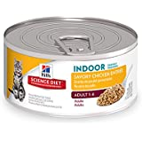 Hill's Science Diet Adult Indoor Cat Food, Savory Chicken Entrée Minced Cat Food, 5.5 oz, 24 Pack