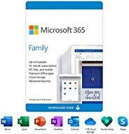 Microsoft 365 Family | 12-Month Subscription, up to 6 people | Premium Office apps | 1TB OneDrive cloud storag