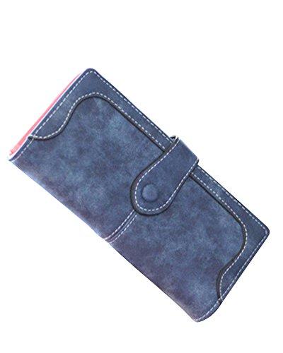 Saphir Cuir Bleu Bleu Bourse Grande Pu Saphir Femmes À Sac Porte Main Monnaie Pour Les Capacité aTqW1