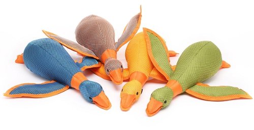 Multipet 8-Inch Dazzle Ducks Dog Toy, Assorted Colors