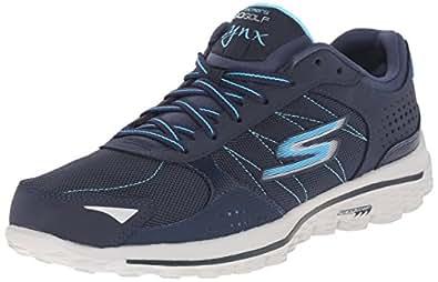 Skechers Performance Women's Go Walk 2 Golf Lynx Balistic Shoe, 11 B(M) US, Navy/Blue