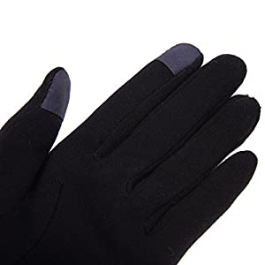 YEBING Women Winter Texting Gloves Touch Screen Gloves for Phone Warm Thick Fleece Mittens (Blue)