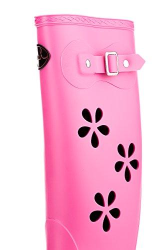 MEI Damen Perforierte Gummistiefel Pink