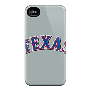 Fashion Protective Baseball Texas Rangers 4 Case Cover For Iphone 4/4s