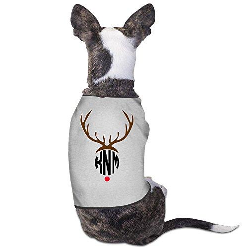 YRROWN Monogrammed Christmas Knm Puppy Dog Clothes - Five Dollar Nerf Guns