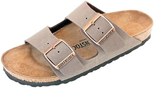 Birkenstock Arizona Mocha Birko-Flor 'Narrow Fit' Women's Sandals (9-9.5 US Women - 40 N EU) by Birkenstock (Image #1)