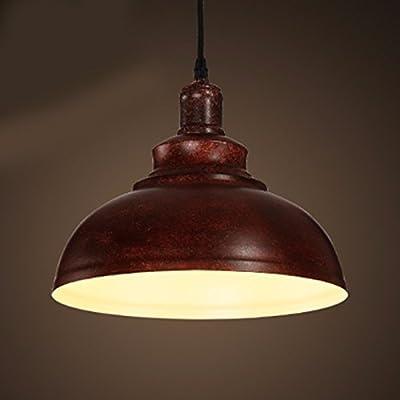 LoveScc Creative lustres éclairage d'accueil Salle De Séjour salle à manger chambre à coucher des lustres de l'air industriel Sépia tête Simple Fer à Repasser rouille 40*23cm
