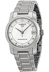 Tissot T-Classic Automatic Mother of Pearl Dial Titanium Ladies Watch T0872074411600