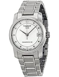 T-Classic Automatic Mother of Pearl Dial Titanium Ladies Watch T0872074411600