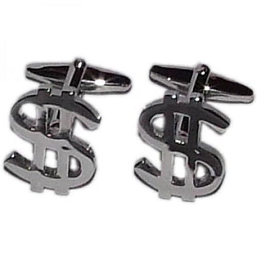 Gtr Men's Cufflinks Dollar $ Sign (X2N008) One Size