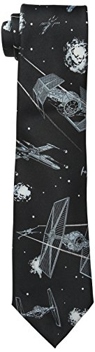 Star Wars Men's Battle Scene Tie, Black, One Size (Star Wars Tie)