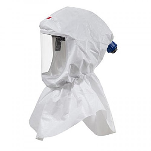 3M S-605-10 Standard Polypropylene S-Series Versaflo White Replacement Hood with Inner Collar, Plastic, 5'' x 20'' x 16'' by 3M