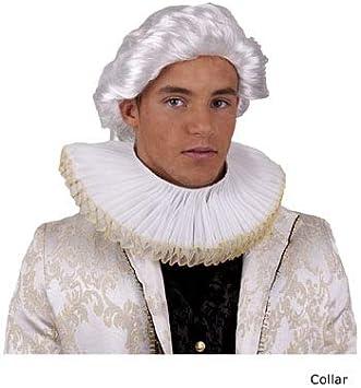 COOLMP - Lote de 12 collares barrocos blancos