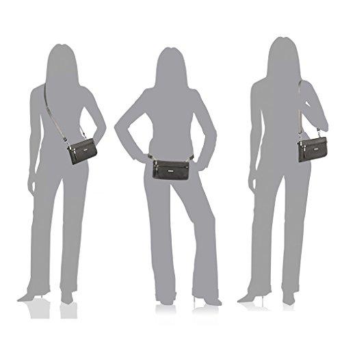 Shoulder Earphones Crossbody Wristlet RFID Bundle Convertible Shimmer Travel Clutch Bag Baggallini Sterling xZt8Iw1qZ