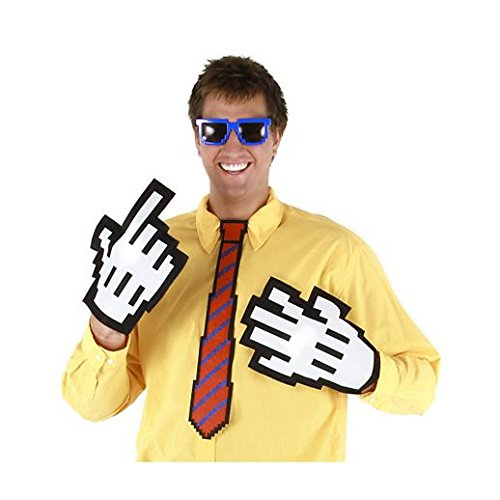 [Gloves Costume Accessory Hand Accessories Halloween Pixel Gloves] (Pixel Gloves)