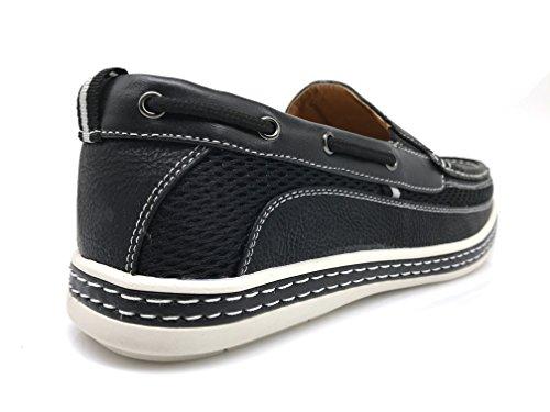 Dc9n Heren Herfst Zomer Lichtgewicht Casual Pasvorm Klassieke Mode Slip Op Loafers Bootschoenen Zwart