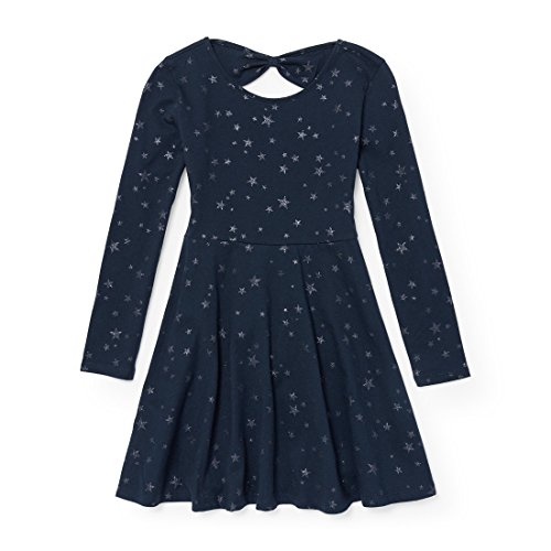 The Children's Place Big Girls' Knit Bow Back Dress, Nautico 90407, L (10/12) by The Children's Place (Image #1)