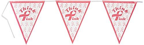 Pink Ribbon Pennant Banner ()