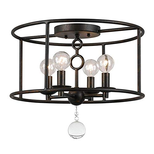 Cameron Accent - Crystorama 9267-EB Crystal Accents Four Light Ceiling Mounts from Cameron collection in Bronze/Darkfinish,