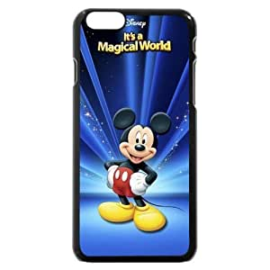 """Customized Black Hard Plastic Plastic Disney Cartoon Mickey Mouse iPhone 6 4.7 Case, Only fit iPhone 6 4.7"""""""