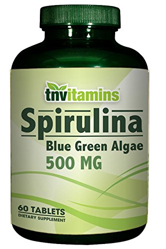 Amazon.com: tnvitamins Espirulina algas 500 mg- Azul Verde ...