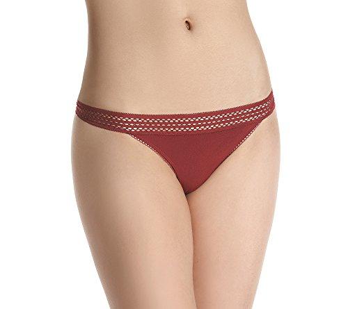 dkny-womens-classic-cotton-lace-trim-thong-sienna-medium