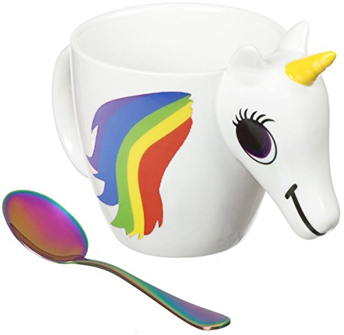 - Heat Sensitive Rainbow Unicorn Mug Changes Colors When Hot | Pour Hot Water to Go from Dark Colors to Bright Rainbow in Seconds. 9oz 3D Quality Ceramic for Kids, Adults, Coffee, Tea, Cocoa by CuteCo