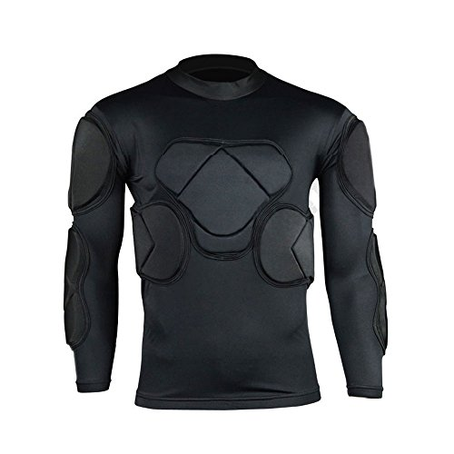 - COOLOMG Men's Sport Soccer Football Rash Shock Padded GOALIE Goal Long sleeve Shirt L