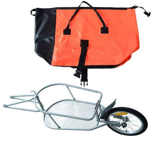 Steel Bicycle Bike Cargo luggage Trailer One Wheel Cart Carrier For Shopping by Unknown (Image #2)