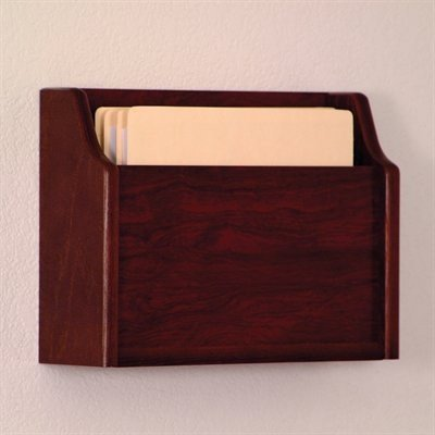 Wooden Mallet CHD15-1 Mahogany Single Pocket Extra Deep Wall Mounted Chart Holder by Wooden Mallet