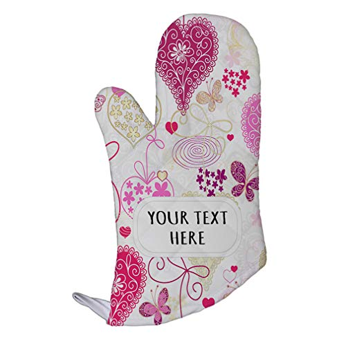 - Style In Print Polyester Oven Mitt Custom Colored Hearts Flower Design Pattern Adults Kitchen Mittens