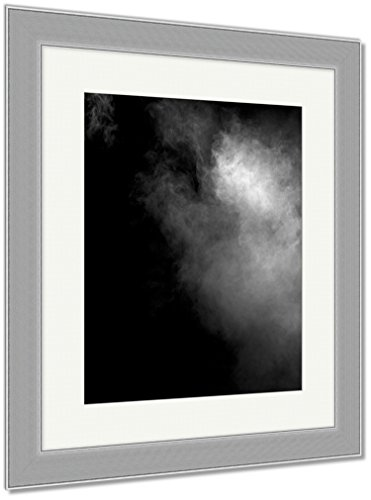 Ashley Framed Prints Image Of Fog Over Dark, Wall Art Home Decoration, Black/White, 30x26 (frame size), Silver Frame, AG6076459 by Ashley Framed Prints