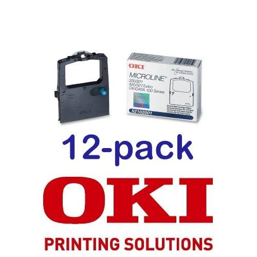 be592434473 durable service Value Pack of 12 Okidata Black Nylon Ribbon for Microline  320 321 Printers