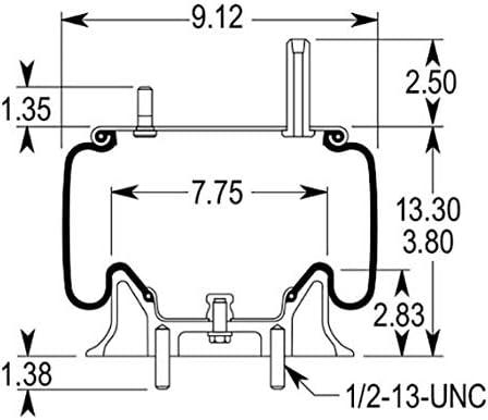 Replaces Kenworth K303-6, K303-14, Goodyear 1R11-028 /& Firestone W01-358-9422 4 x TR9422 Pack of 4 TORQUE Air Spring for Kenworth Trucks